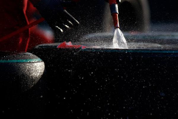 Shanghai International Circuit, Shanghai, China17th April 2009Bridgestone tyres are cleaned with water in the paddock.World Copyright: Glenn Dunbar/LAT Photographicref: Digital Image _O9T8810