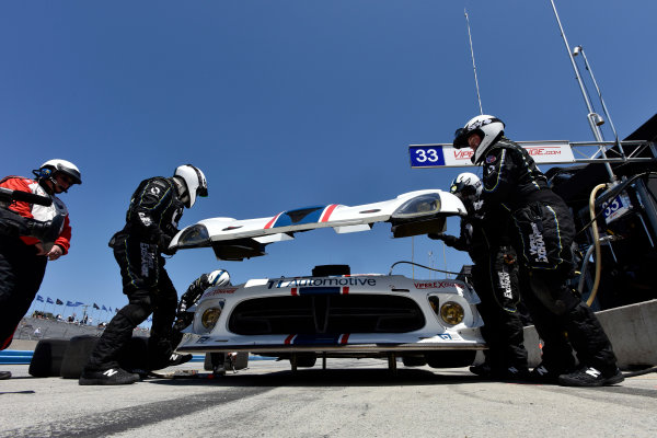 1-3 May, 2015, Monterey, California, USA 33, Viper V10, SRT GT3-R, GTD, Ben Keating, Jeroen Bleekemolen pit stop ?2015 Scott R LePage  LAT Photo USA