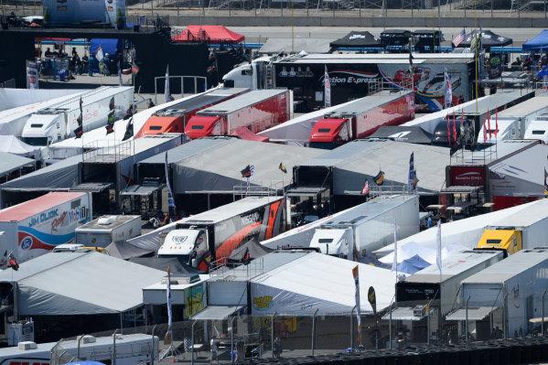 1-2 May, 2015, Monterey,  California USA Transporters in the IMSA paddock ©2015, Richard Dole LAT Photo USA