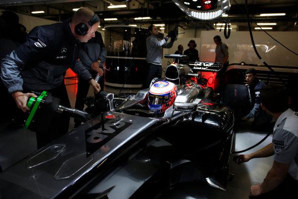 Shanghai International Circuit, Shanghai, China. Saturday 19 April 2014. Jenson Button, McLaren. World Copyright: Steven Tee/LAT Photographic. ref: Digital Image _L0U1701