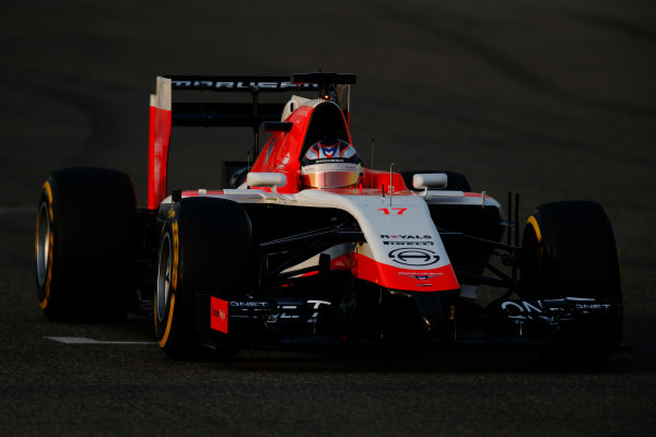 2014 F1 Pre Season Test 2 - Day 3 Bahrain International Circuit, Bahrain. Saturday 22 February 2014. Jules Bianchi, Marussia F1. World Copyright: Glenn Dunbar/LAT Photographic. ref: Digital Image _W2Q4596