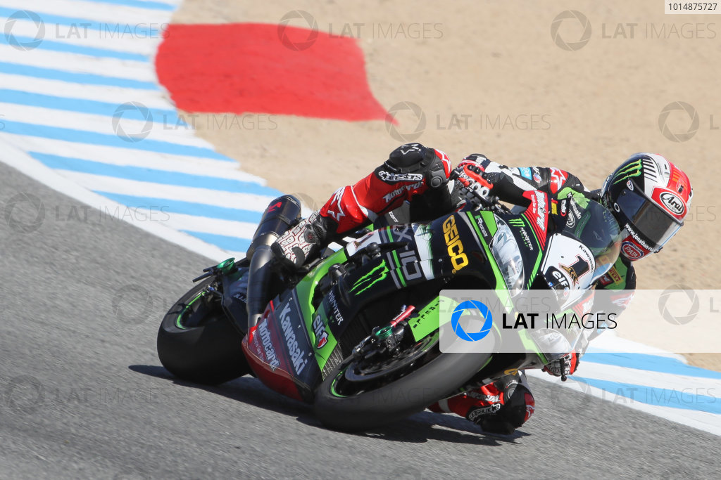 2017 Superbike World Championship - Round 8 Laguna Seca, USA. Friday 7 July 2017 Jonathan Rea, Kawasaki Racing World Copyright: Gold and Goose/LAT Images ref: Digital Image 682952