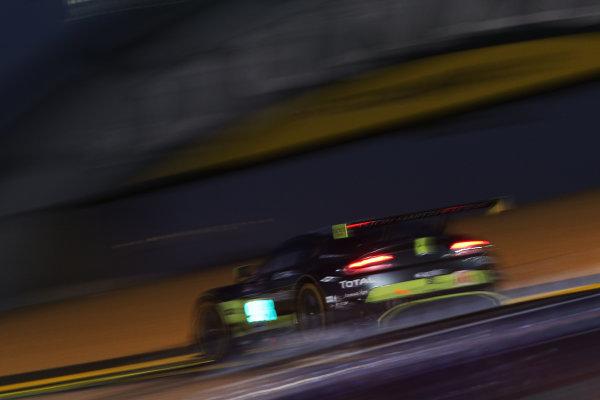 2017 Le Mans 24 Hours Circuit de la Sarthe, Le Mans, France. Thursday 15 June 2017 #98 Aston Martin Racing Aston Martin Vantage: Paul Dalla Lana, Pedro Lamy, Mathias Lauda  World Copyright: JEP/LAT Images