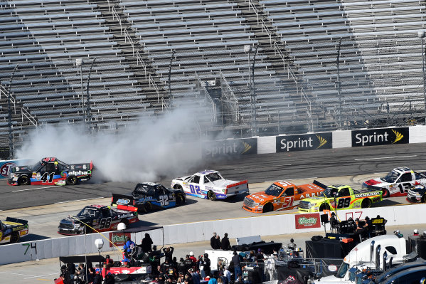 1-2 April, 2016, Martinsville, Virginia USA Ben Rhodes (41), JJ Haley (32), Tyler Young (02) spin in turn 4. ?2016, John Harrelson / LAT Photo USA