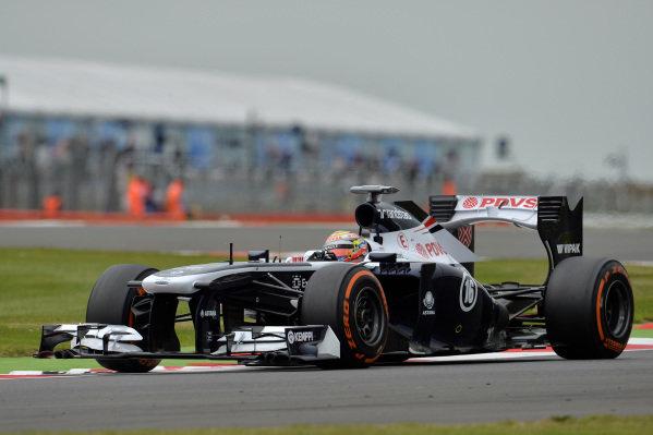 Pastor Maldonado (VEN) Williams FW35. Formula One World Championship, Rd8, British Grand Prix, Practice, Silverstone, England, Friday 28 June 2013.