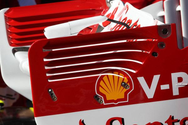 Ferrari F138 rear wing. Formula One World Championship, Rd1, Australian Grand Prix, Preparations, Albert Park, Melbourne, Australia, Thursday 14 March 2013.