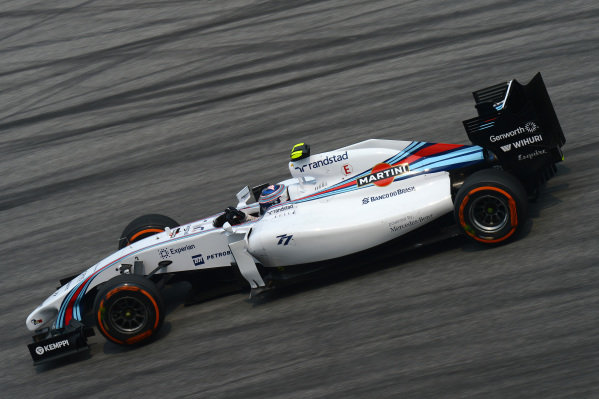 Valtteri Bottas (FIN) Williams FW36. Formula One World Championship, Rd2, Malaysian Grand Prix, Practice, Sepang, Malaysia, Friday 28 March 2014.