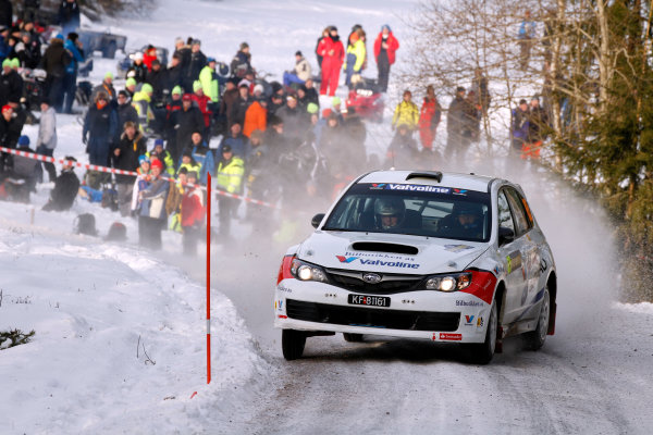 Round 02 - Rally Sweden 09-12 February 2012. Anders Grondal, Subaru PWRC, Action.  Worldwide Copyright: McKlein/LAT