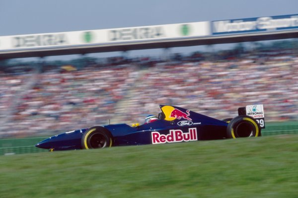 Jean Christophe Boullion (FRA) Sauber Cosworth C14. German Grand Prix, Rd9, Hockenheim, Germany.  30th July 1995.