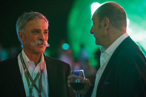 Chase Carey with Bruno Michel.