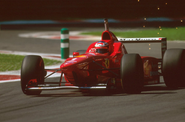 Monza, Italy.6-8 September 1996.Michael Schumacher (Ferrari F310) 1st position.Ref-96 ITA 22.World Copyright - LAT Photographic