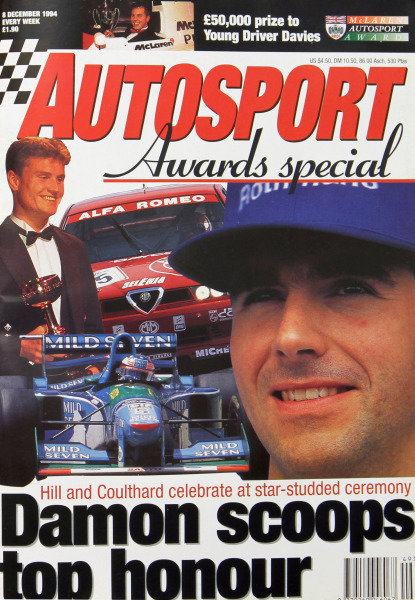 Cover of Autosport magazine, 8th December 1994