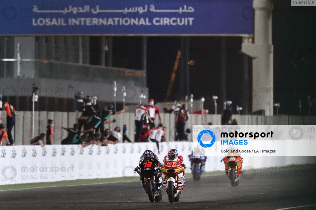 Marco Bezzecchi, Sky Racing Team VR46, Fabio di Giannantonio, Federal Oil Gresini