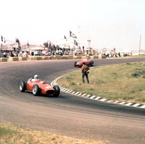 1960 Dutch Grand Prix.Zandvoort, Holland.4-6 June 1960.Wolfgang von Trips (Ferrari Dino 246) 5th position.Ref-3/0181.World Copyright - LAT Photographic