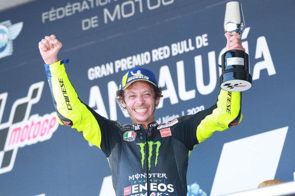 Podium: third place Valentino Rossi, Yamaha Factory Racing.