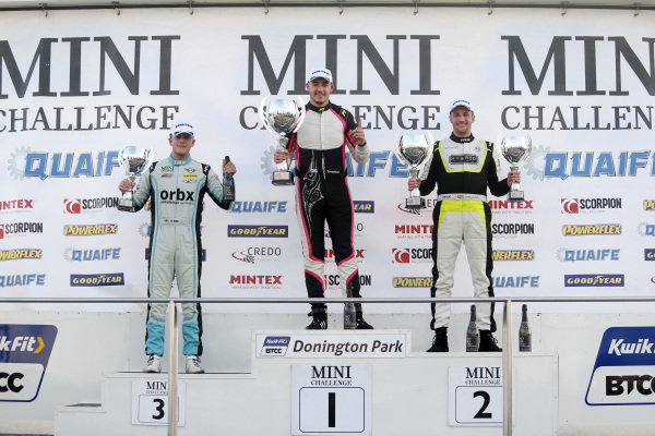Podium Race 1 Max Bird - EXCELR8 Motorsport MINI Jack Davidson - LUX Motorsport MINI Sam Weller - Hybrid Tune MINI