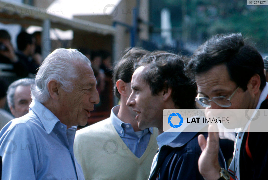 Gianni Agnelli 1922 - 2003Gianni Agnelli, here seen at the 1983 Monaco Grand Prix with Jacky Ickx, portrait.World Copyright: Photo4/LAT Photographicref: Digital Image Only