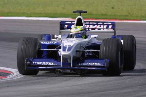 2001 Malaysian Grand Prix.Sepang, Kuala Lumpur, Malaysia. 16-18 March 2001.Ralf Schumacher (Williams FW23 BMW) 5th position.World Copyright - LAT Photographicref: 8 9MB DIGITAL IMAGE