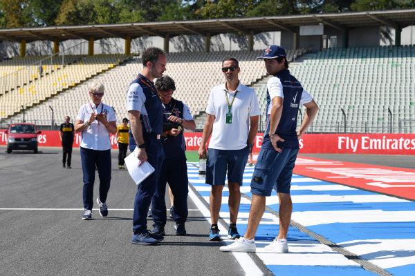 Lance Stroll (CDN) Williams walks the track