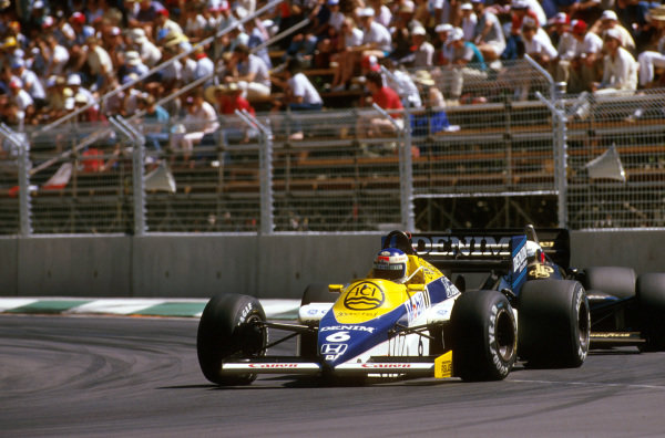 Adelaide, Australia.1-3 November 1985.Keke Rosberg (Williams FW10 Honda) 1st position.Ref-85 AUS 22.World Copyright - LAT Photographic