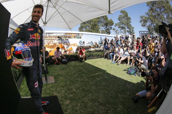 Daniel Ricciardo (AUS) Red Bull Racing at Formula One World Championship, Rd1, Australian Grand Prix, Preparations, Albert Park, Melbourne, Australia, Thursday 17 March 2016.