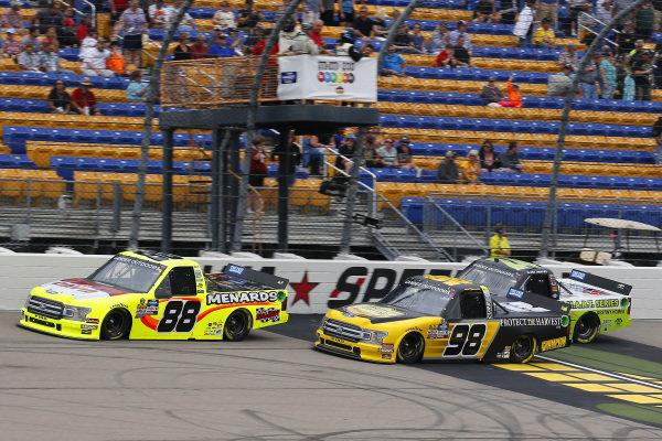 #88: Matt Crafton, ThorSport Racing, Ford F-150 Menards/Conagra and #98: Grant Enfinger, ThorSport Racing, Ford F-150