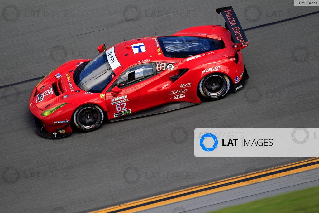 2017 WeatherTech Sportscar Championship December Daytona Testing Wednesday 6 December 2017 #62 Risi Competizione Ferrari 488 GTE: Toni Vilander  World Copyright: Alexander Trienitz/LAT Images  ref: Digital Image 2017-IMSA-Test-Dayt-AT1-1380