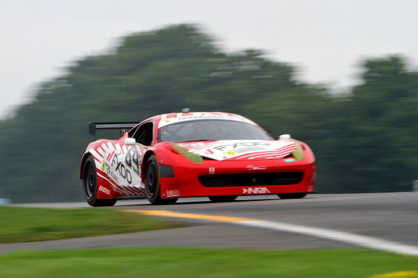 10-11 August, 2012, Watkins Glen, New York USAThe #69 Ferrari of Jeff Segal and Emil Assentato  is shown in action during practice.(c)2012, R D. EthanLAT Photo USA