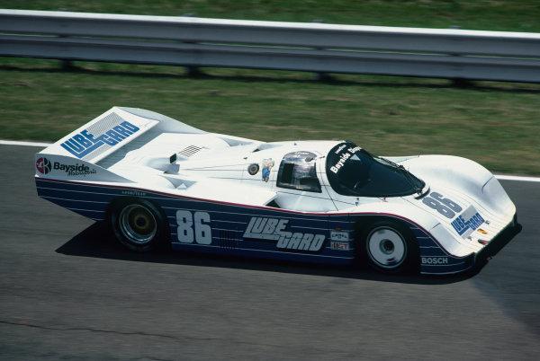 Watkins Glen 500 Kms, New York, USA. 8th July 1984. Rd 10. Bruce Leven / John Paul, Jr. (Porsche 962), 2nd position, action. World Copyright: LAT Photographic. Ref:  84IMSA WG01