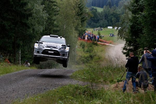Round 08-Neste Rally Finland 1/8-4/8 2012.Matti Rantanen, Ford WRC, Action.Worldwide Copyright: McKlein/LAT