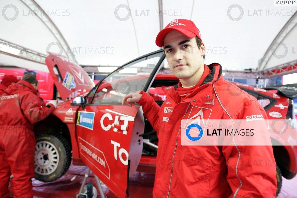 2008 FIA World Rally ChampionshipRound 02Swedish Rally7-10 February 2008Dani Sordo, Citroen, Portrait.Worldwide Copyright: McKlein/LAT