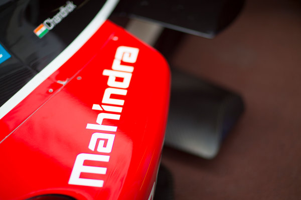 2014/2015 FIA Formula E Championship. Mahindra Detail. Thursday Set-Up. Monaco ePrix, Monte Carlo, Monaco, Europe. Thursday 7 May 2015  Photo: Adam Warner/LAT/Formula E ref: Digital Image _L5R8064