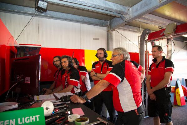 2014/2015 FIA Formula E Championship. Audi Abt Garage. Monaco ePrix Race. Monaco ePrix, Monte Carlo, Monaco, Europe. Saturday 9 May 2015  Photo: Adam Warner/LAT/Formula E ref: Digital Image _L5R1420