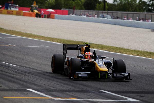 2015 GP2 Series Round 2. Circuit de Catalunya, Barcelona, Spain. Sunday 10 May 2015. Alex Lynn (GBR, DAMS). Photo: Zak Mauger/GP2 Series Media Service. ref: Digital Image _MG_7417