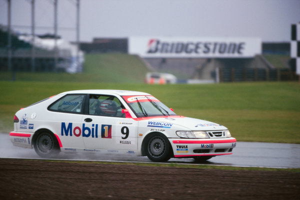 1998 National Saloon Car Cup. Silverstone, Great Britain. 11th July 1998. Rd 8. Lionel Abbott (Saab 9.3), 3rd position, action.  World Copyright: LAT Photographic.  Ref:  98NATSAL SIL3.