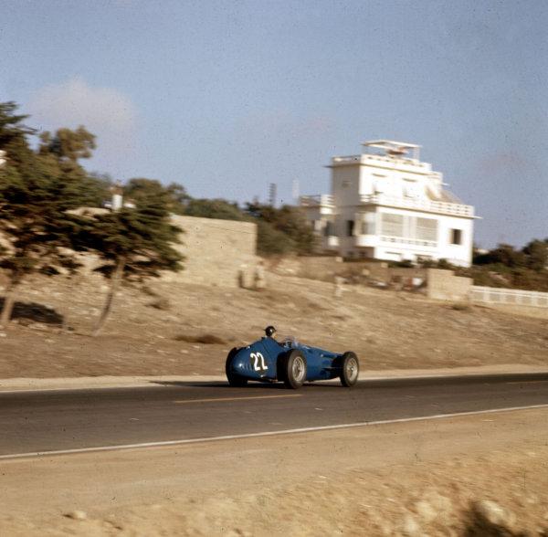 1958 Moroccan Grand Prix.Ain-Diab, Casablanca, Morocco.17-19 October 1958.Masten Gregory (Temple Buell Maserati 250F) 6th position.Ref: 3/0132.World copyright - LAT Photographic