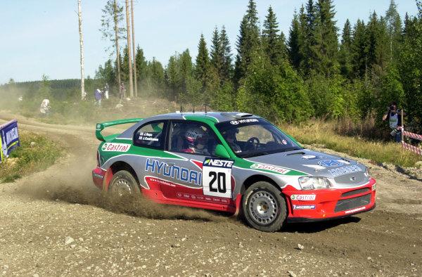 2001 World Rally Championship.Neste Rally Finland. Jyvaskyla, August 24-26, 2001.Juha Kankkunen on stage 1.Photo: Ralph Hardwick/LAT