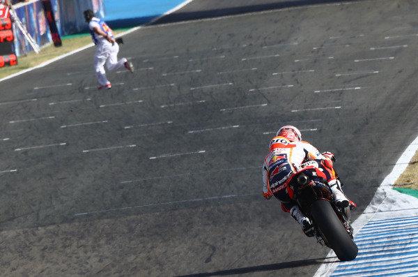 Marc Marquez, Repsol Honda Team, Marshal on track!!.