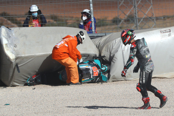 Fabio Quartararo, Petronas Yamaha SRT  crash.