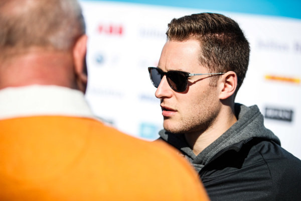 Stoffel Vandoorne (BEL), HWA Racelab, talks to the press