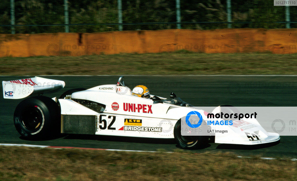 1977 Japanese Grand Prix.Fuji, Shizuoka, Japan.21-23 October 1977.Kazuyoshi Hoshino (Kojima KE009 Ford) 11th position.World Copyright - LAT Photographic
