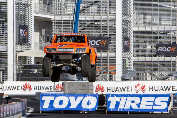 Stadium Super Truck race action on Sunday 20 January 2019 at Foro Sol, Mexico City, Mexico