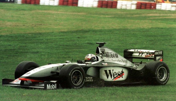 1998 Argentinian Grand Prix.Buenos Aires, Argentina.10-12 April 1998.David Coulthard (McLaren MP4/13 Mercedes-Benz) spins off for the third time during the race. He recovered to finish in 6th position.World Copyright - LAT Photographic