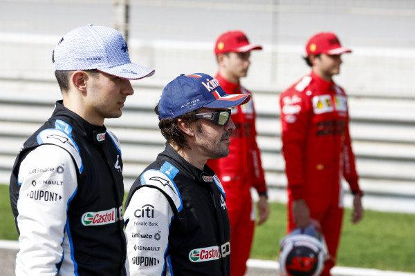 Esteban Ocon, Alpine F1 and Fernando Alonso, Alpine F1