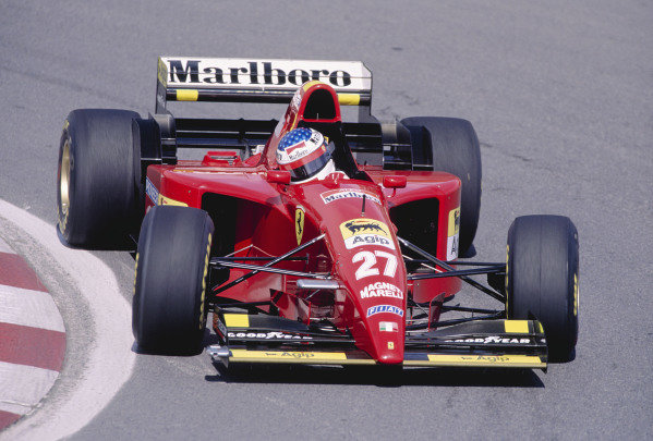 1995 Canadian Grand Prix.Montreal, Quebec, Canada. 9-11 June 1995.Jean Alesi (Ferrari 412T2) 1st position.Ref-95 CAN 41.World Copyright - LAT Photographic