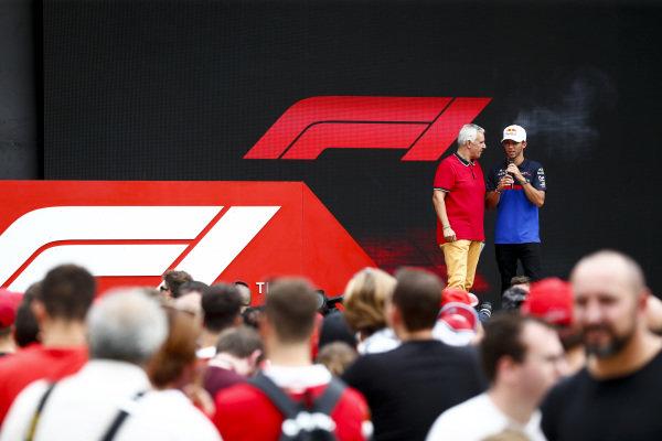 Pierre Gasly, Toro Rosso on stage in the fan zone