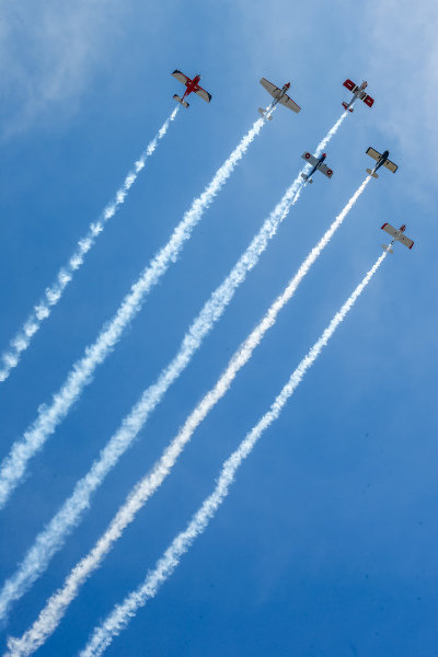 Pre-race fly-over