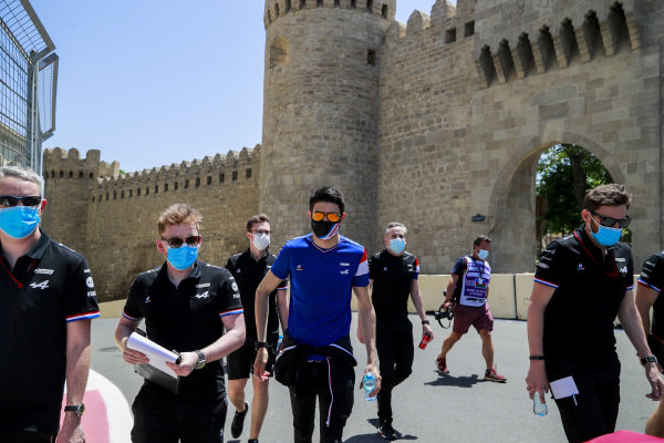 Esteban Ocon, Alpine F1 walks the track