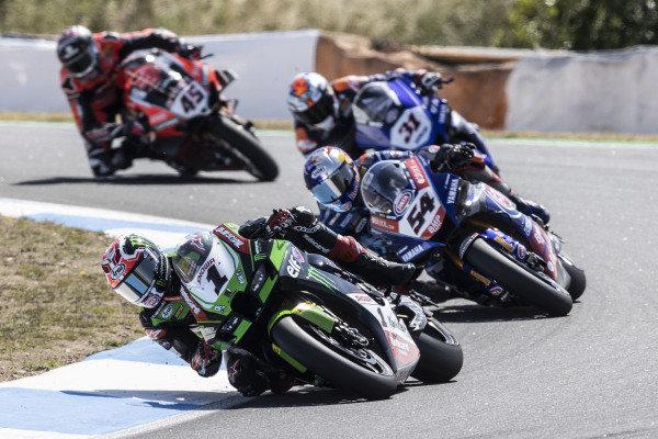 Jonathan Rea, Kawasaki Racing Team WorldSBK, Toprak Razgatlioglu, PATA Yamaha WorldSBK Team, Garrett Gerloff, GRT Yamaha WorldSBK Team, Scott Redding, Aruba.It Racing - Ducati.