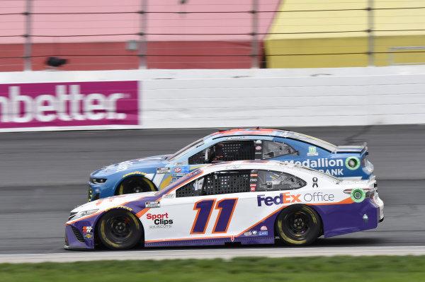 #11: Denny Hamlin, Joe Gibbs Racing, Toyota Camry FedEx Office, #43: Erik Jones, Richard Petty Motorsports, Chevrolet Camaro Medallion Bank